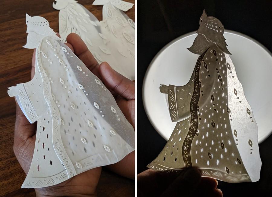 """剪纸艺术跃上邮票!英国推出""""2019 圣诞邮票""""邀艺术家以剪纸和微光说故事 3"""