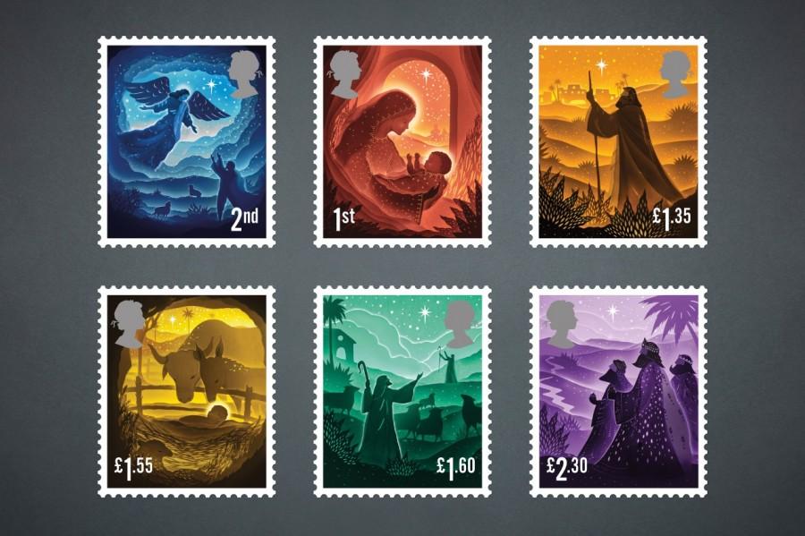 """剪纸艺术跃上邮票!英国推出""""2019 圣诞邮票""""邀艺术家以剪纸和微光说故事 2"""