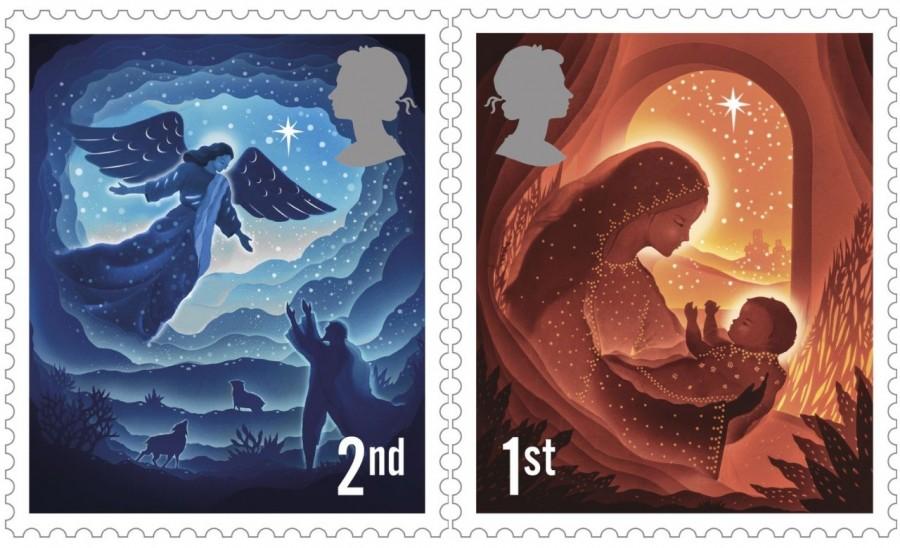 """剪纸艺术跃上邮票!英国推出""""2019 圣诞邮票""""邀艺术家以剪纸和微光说故事 1"""