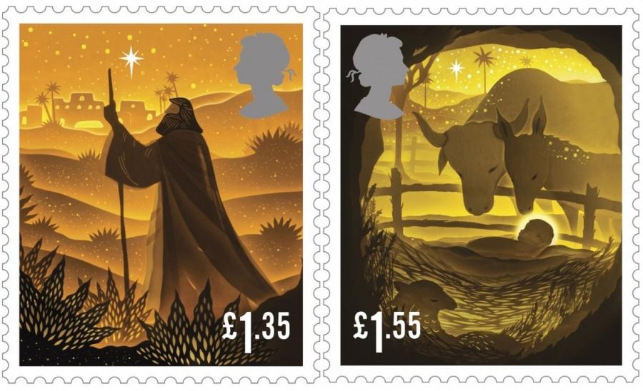 """剪纸艺术跃上邮票!英国推出""""2019 圣诞邮票""""邀艺术家以剪纸和微光说故事 5"""