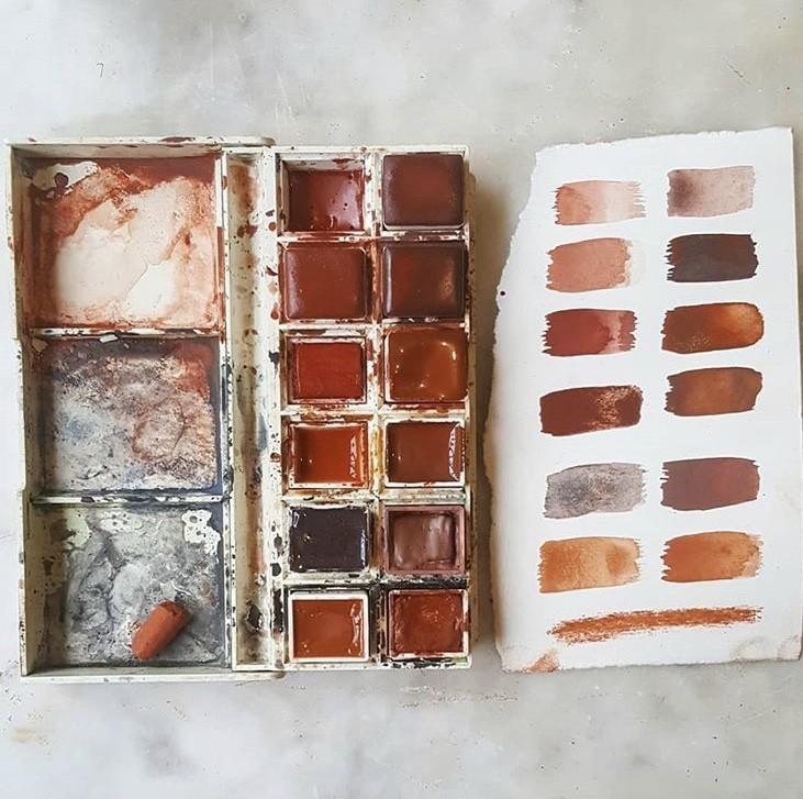 """500 种大自然的颜色!采集矿石打造天然调色盘,美国艺术家的""""赭石数据库"""" 5"""