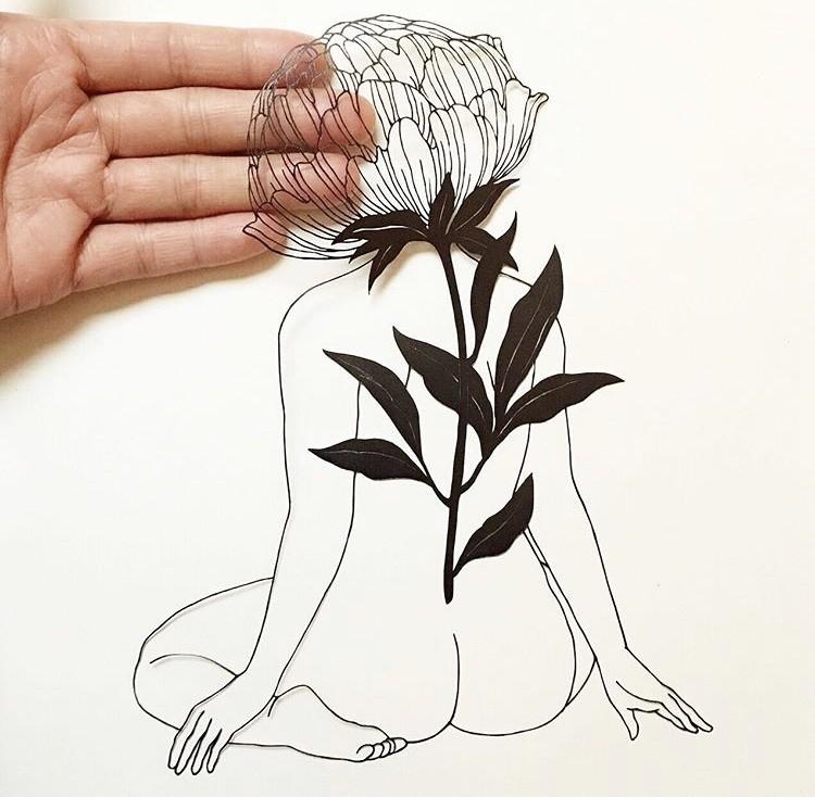 细腻如画的剪纸!每一次创作都是心灵的沉淀,艺术家 Kanako Abe 的剪纸静心术 2