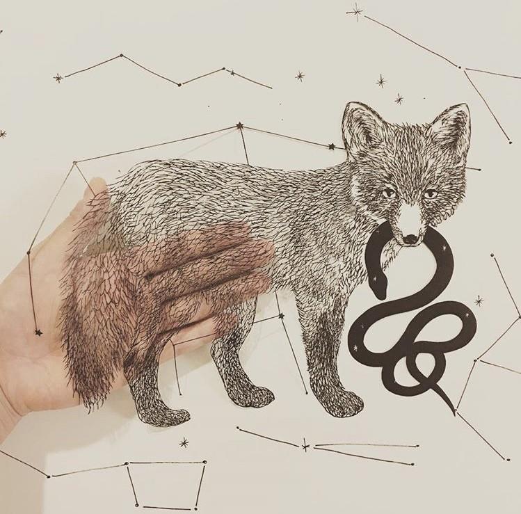 细腻如画的剪纸!每一次创作都是心灵的沉淀,艺术家 Kanako Abe 的剪纸静心术 4
