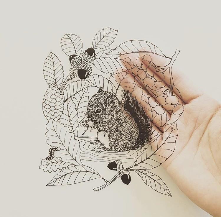 细腻如画的剪纸!每一次创作都是心灵的沉淀,艺术家 Kanako Abe 的剪纸静心术 3