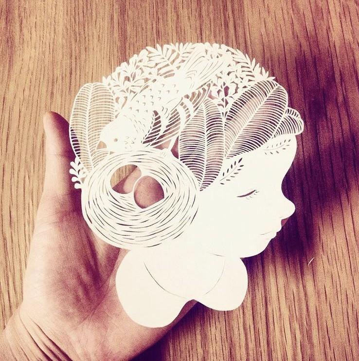 细腻如画的剪纸!每一次创作都是心灵的沉淀,艺术家 Kanako Abe 的剪纸静心术 5