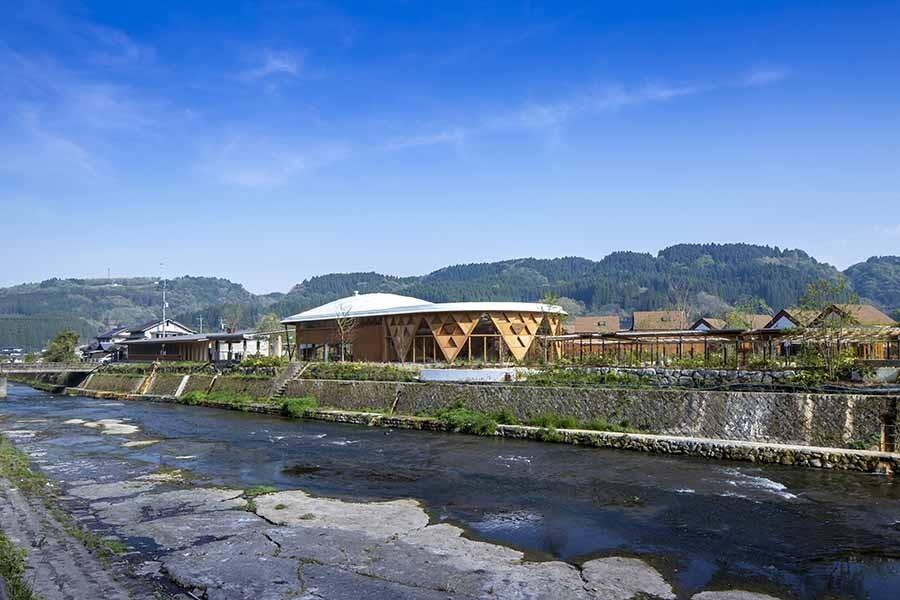 """与自然融合的建筑智慧!坂茂操刀,俯瞰芹川美景的日本大分""""Kur Park长汤"""" 1"""