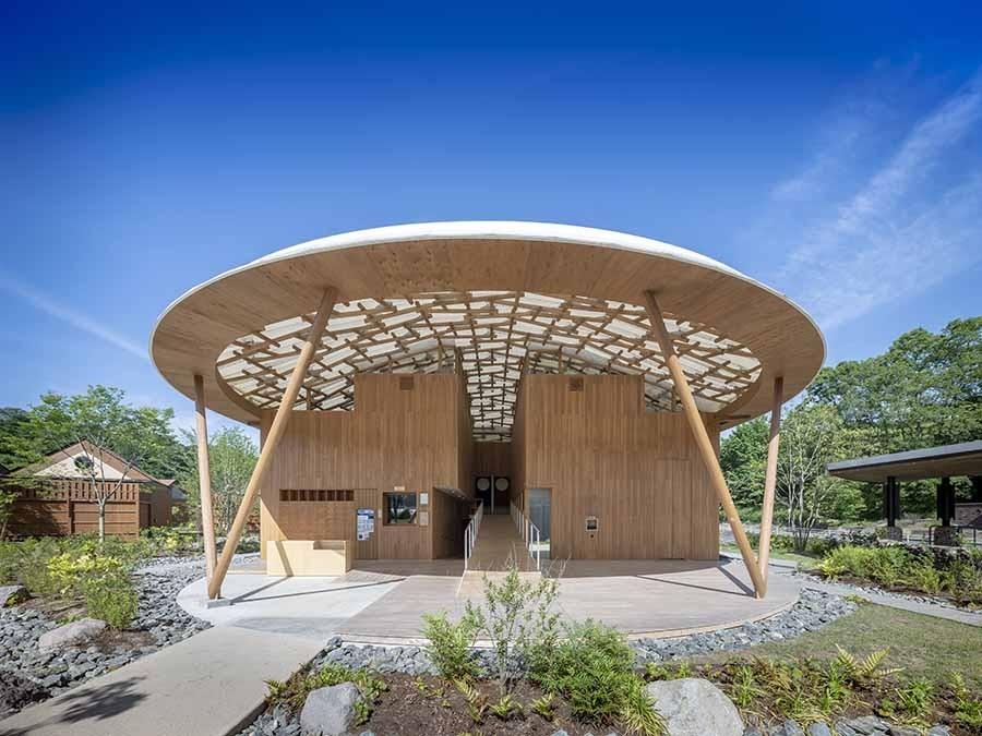"""与自然融合的建筑智慧!坂茂操刀,俯瞰芹川美景的日本大分""""Kur Park长汤"""" 2"""