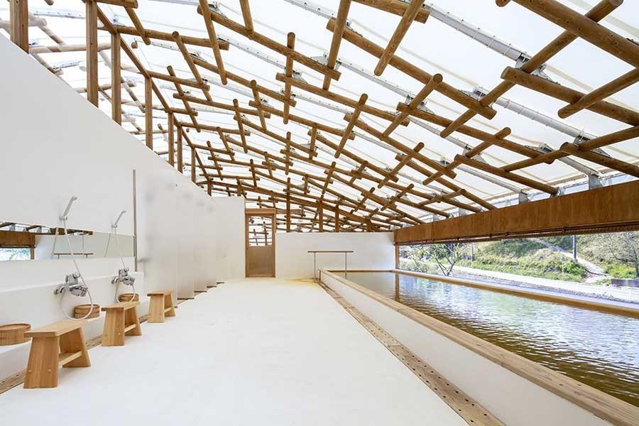 """与自然融合的建筑智慧!坂茂操刀,俯瞰芹川美景的日本大分""""Kur Park长汤"""" 3"""