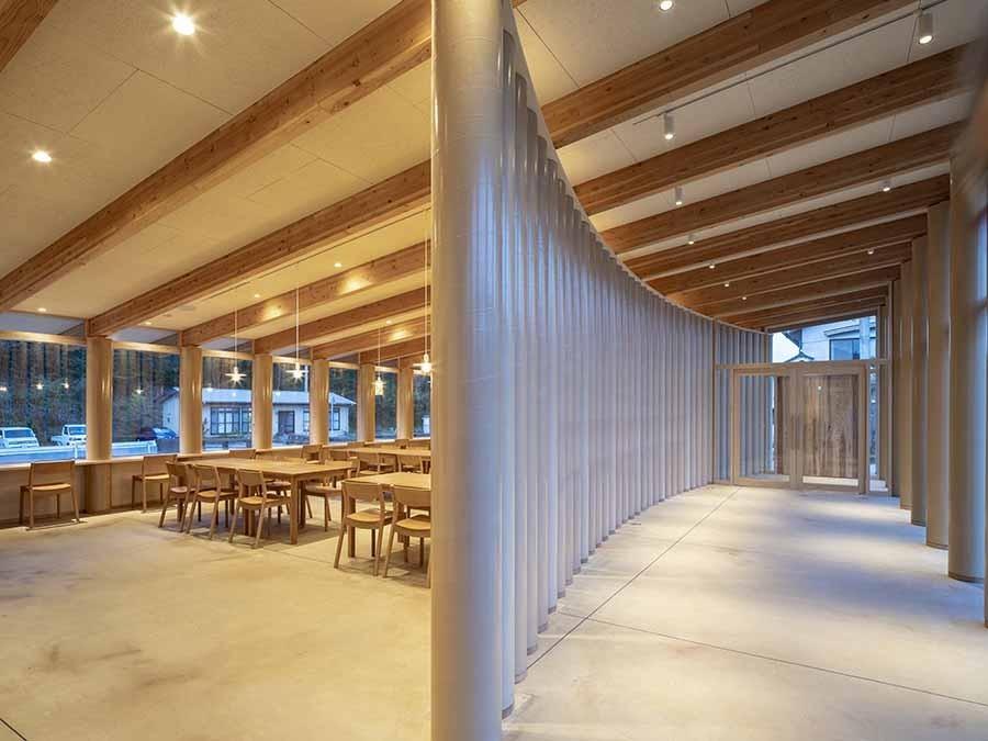 """与自然融合的建筑智慧!坂茂操刀,俯瞰芹川美景的日本大分""""Kur Park长汤"""" 7"""