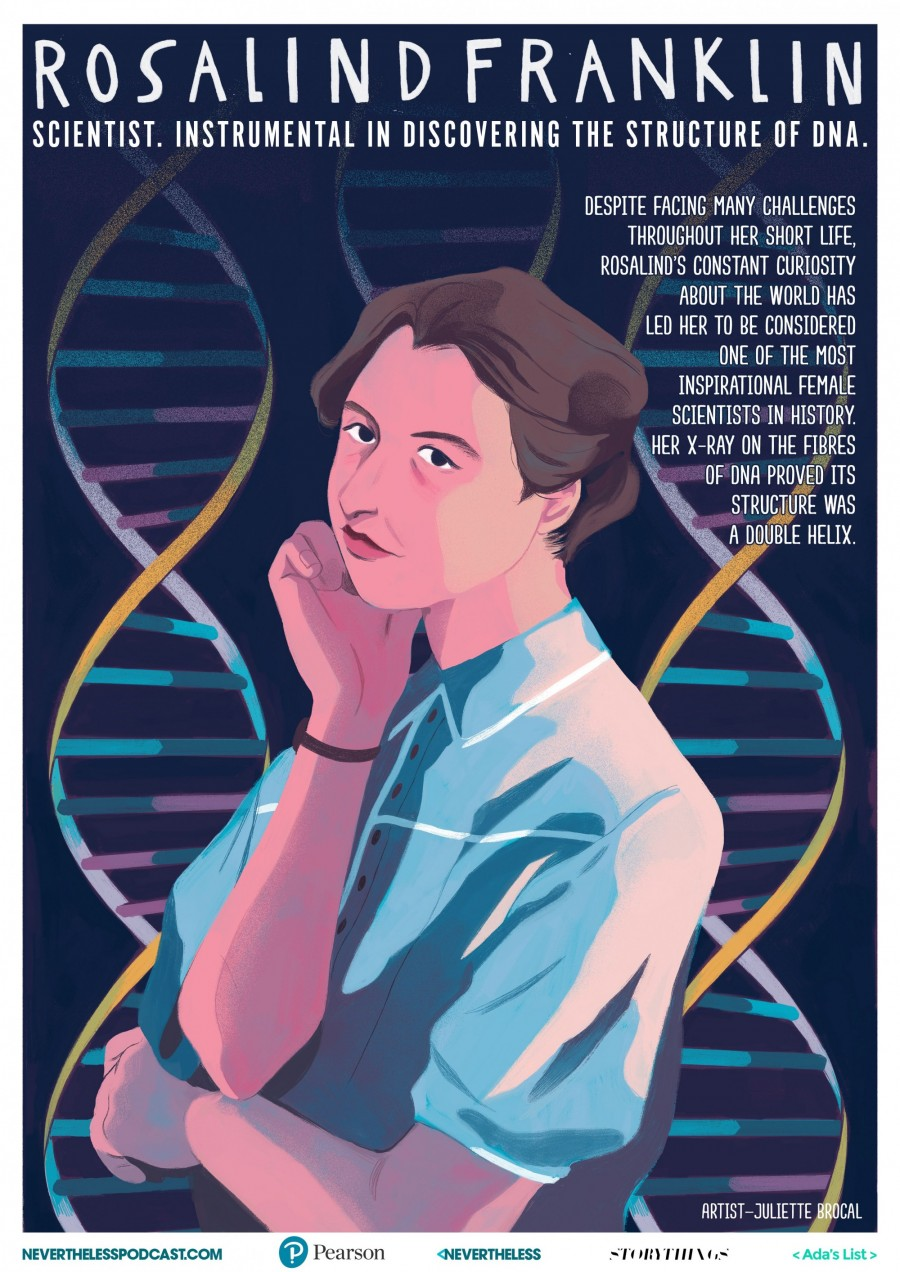 img 1578651434 27357@900 - 看见才能相信!打破刻板印象,艺术家打造 8 款杰出女性科学家插画海报,开放下载