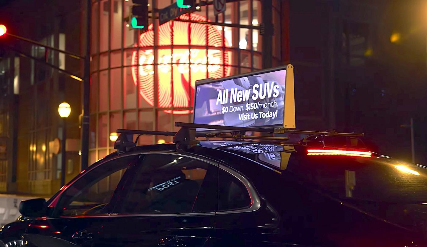 私家車頂裝廣告燈箱!Uber擴財源向計程車取經,一週補貼車主3,000元