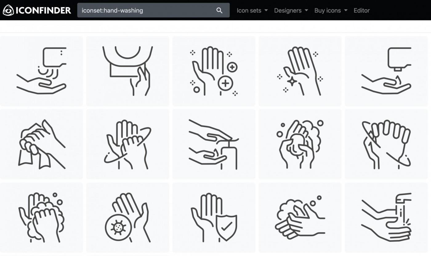 200個icon免費下載!Iconfinder聯手設計師推防疫圖示集,小編、行銷人快收藏