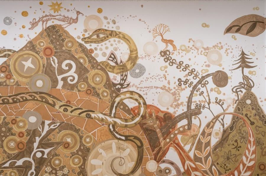 img 1584515885 94811@900 - 用泥土画下动植物!日本艺术家浅井裕介壁画创作,打造远古神话场景