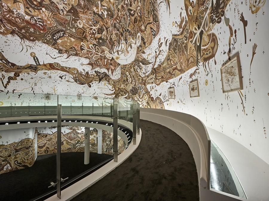 img 1584516017 44415@900 - 用泥土画下动植物!日本艺术家浅井裕介壁画创作,打造远古神话场景