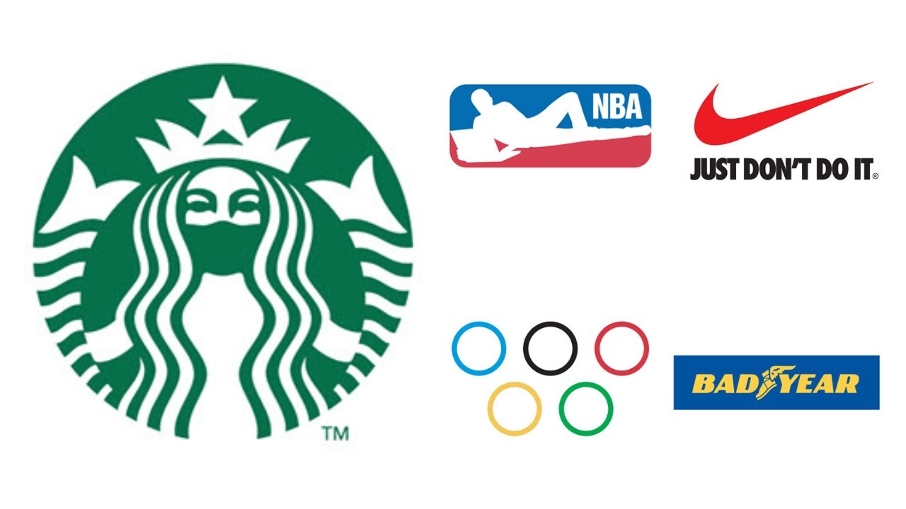 8個疫情版logo!設計師大展黑色幽默:星巴克美人魚戴口罩、NBA停賽在家躺⋯⋯