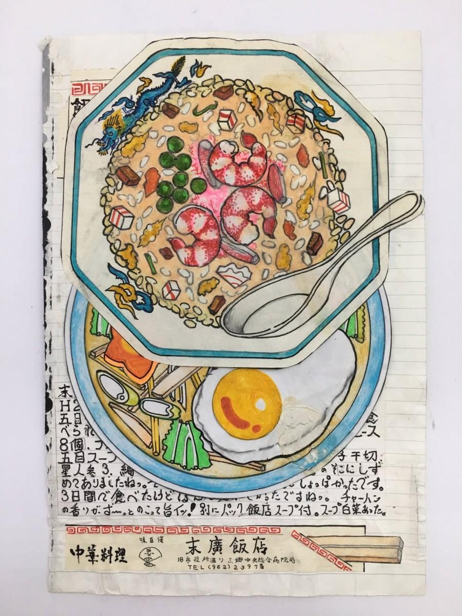 img 1585039380 51764@900 - 一画就是23年!退休日本厨师的插画笔记本:牛丼、天妇罗、寿司、炒饭都有