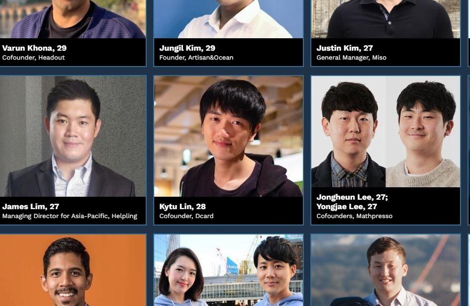 Dcard創辦人登《富比士》亞洲傑出青年榜單,今年5位台灣之光入圍