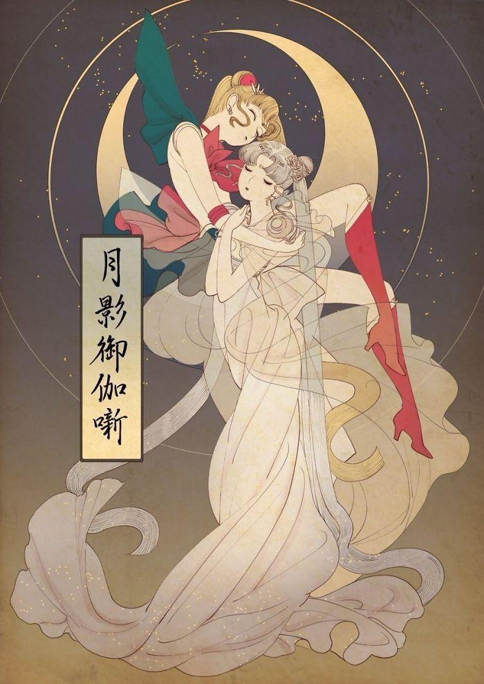 img 1586336680 40161@900 - 浮世绘版《迪士尼公主》!日本插画家创作美人图:为白雪公主换和服、灰姑娘穿木屐