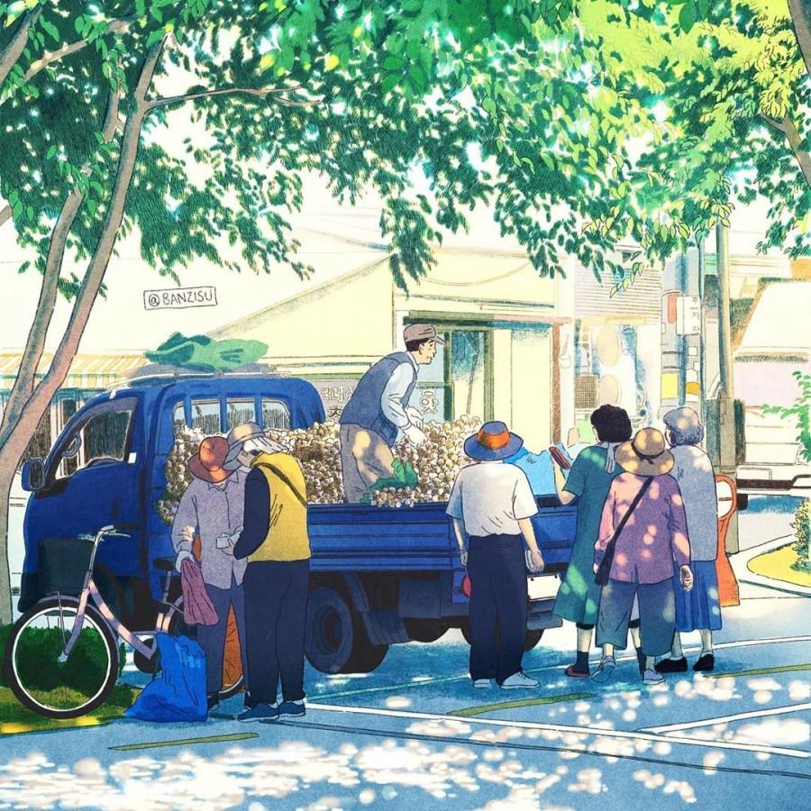 img 1590292501 28527@900 - 轻柔笔触、温煦色彩,插画家 Banzisu 笔下的幸福日常观察