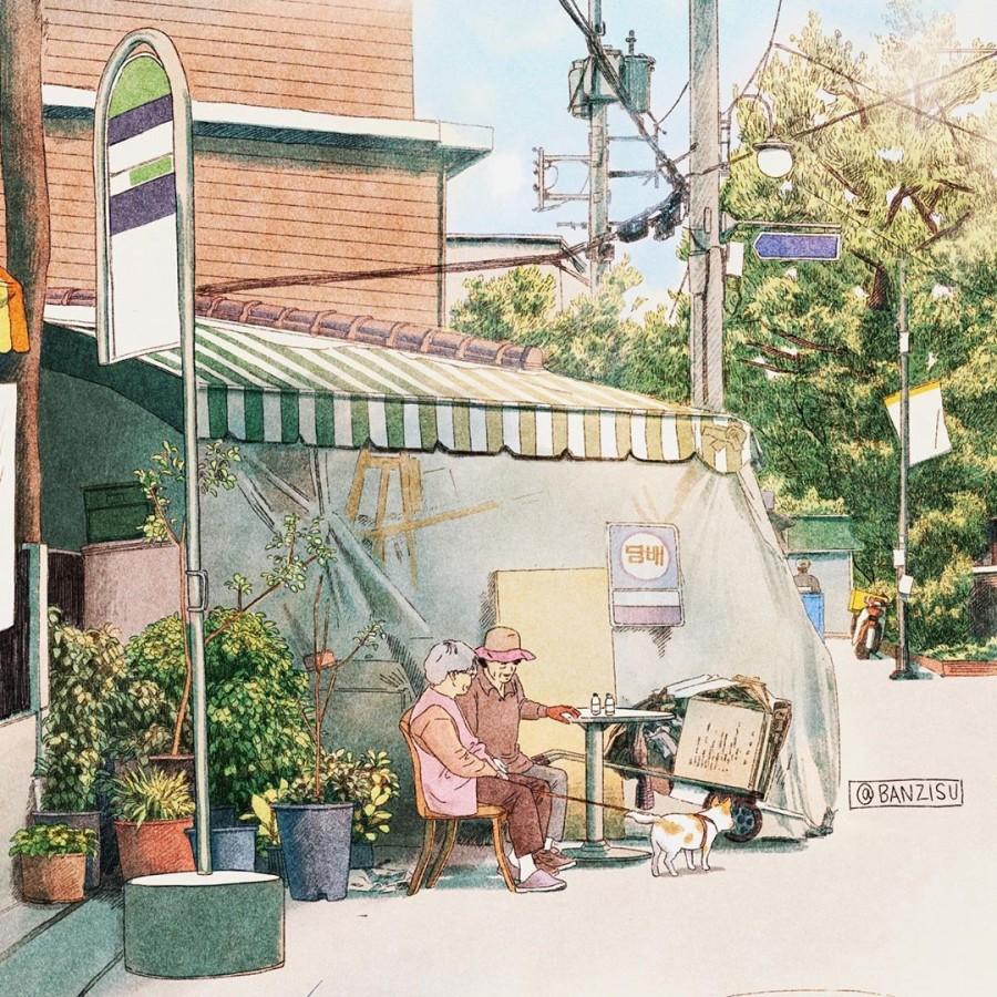 img 1590292518 20132@900 - 轻柔笔触、温煦色彩,插画家 Banzisu 笔下的幸福日常观察