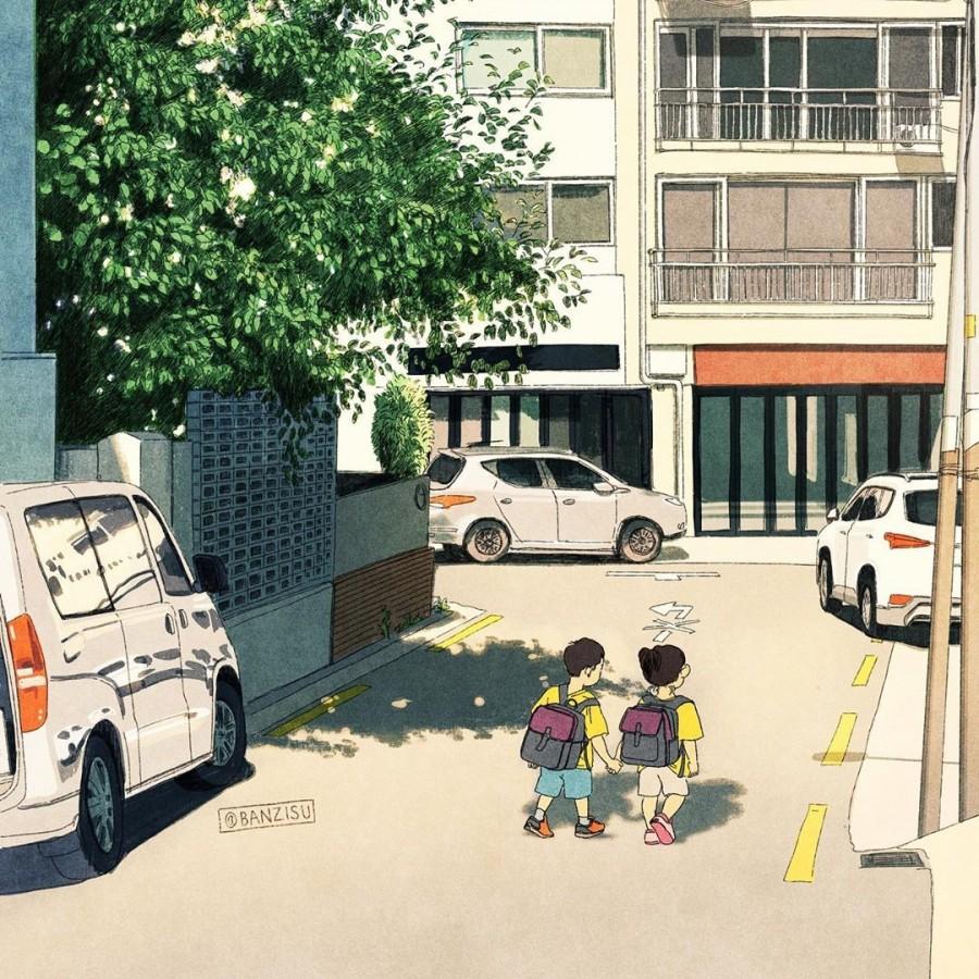 img 1590292522 49270@900 - 轻柔笔触、温煦色彩,插画家 Banzisu 笔下的幸福日常观察