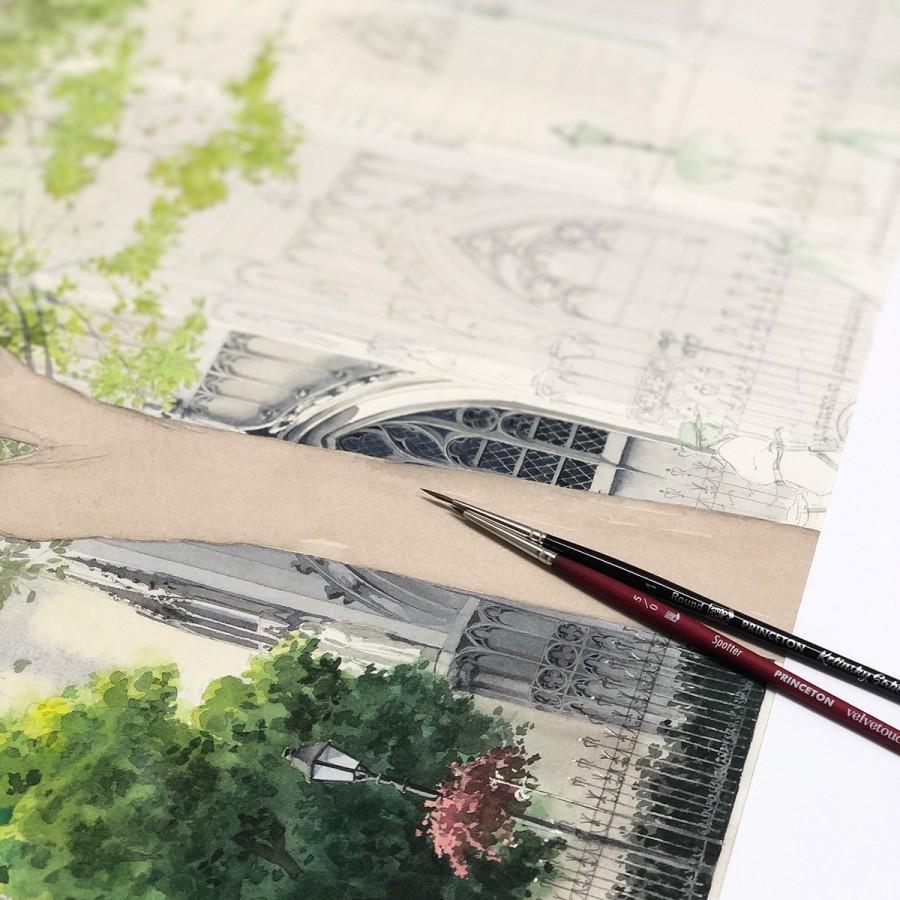 img 1590493651 74057@900 - 为欧洲古建筑绘上时光印记:以新眼光看待回忆,Eleanor Mill 不一样的旅行素描
