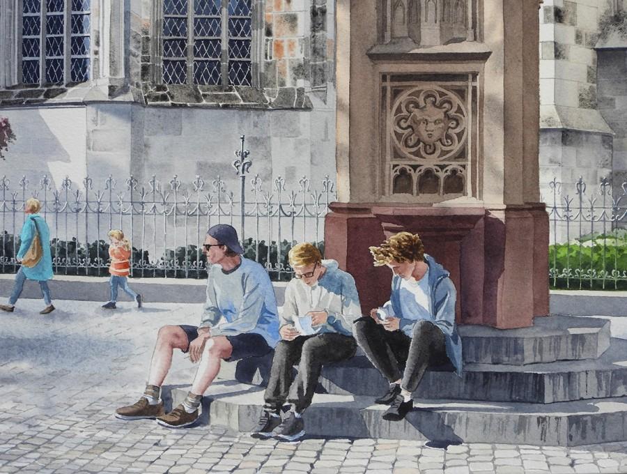 img 1590493670 42411@900 - 为欧洲古建筑绘上时光印记:以新眼光看待回忆,Eleanor Mill 不一样的旅行素描
