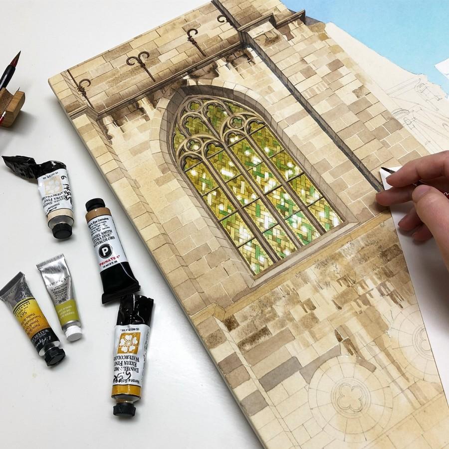 img 1590493679 30916@900 - 为欧洲古建筑绘上时光印记:以新眼光看待回忆,Eleanor Mill 不一样的旅行素描
