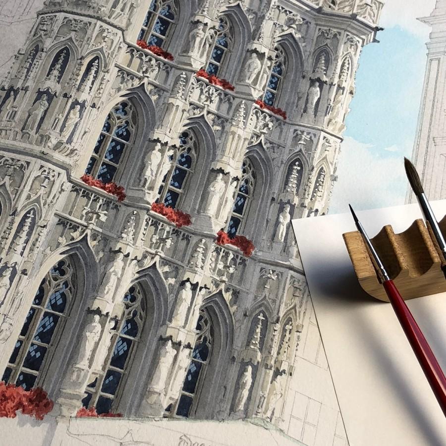 img 1590493697 67800@900 - 为欧洲古建筑绘上时光印记:以新眼光看待回忆,Eleanor Mill 不一样的旅行素描