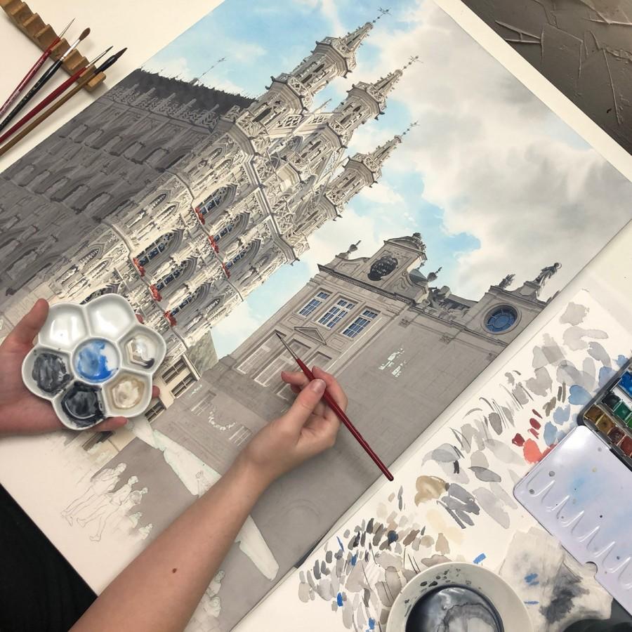 img 1590493700 40913@900 - 为欧洲古建筑绘上时光印记:以新眼光看待回忆,Eleanor Mill 不一样的旅行素描