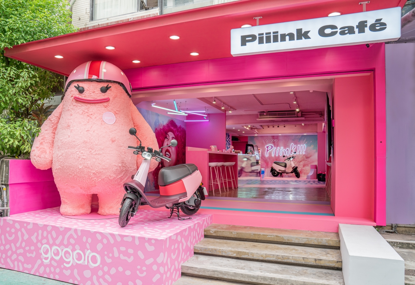 Gogoro揪知名甜點店開了間粉色咖啡廳!電動機車龍頭想玩什麼花樣?