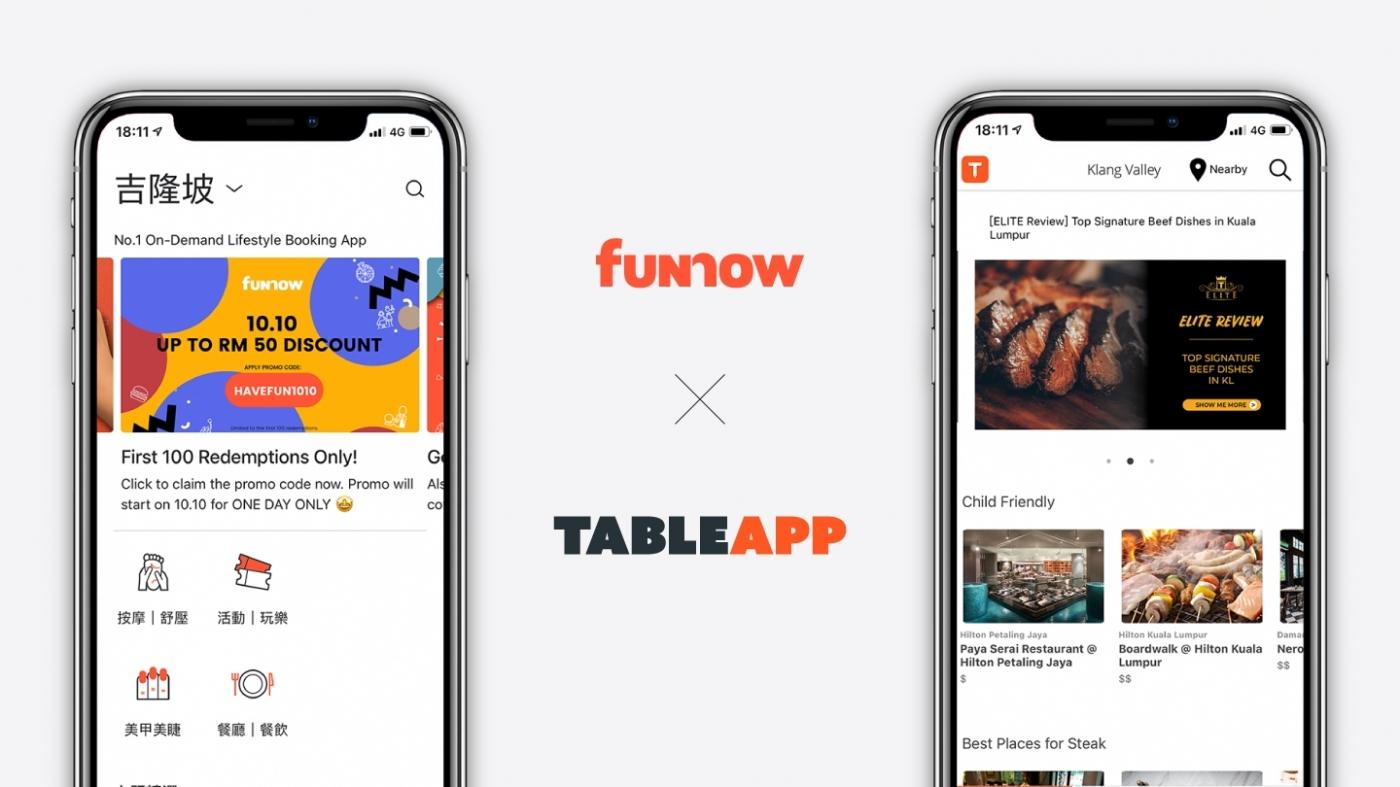 大馬市場再下一城,FunNow併購餐廳預訂平台TABLEAPP!為何疫情下還能順利出海?