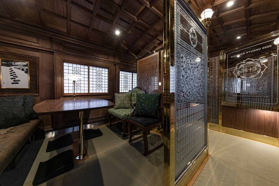 最復古內裝!日本九州懷舊觀光列車「36+3」,花布椅套、拼接磁磚打造優雅乘坐空間