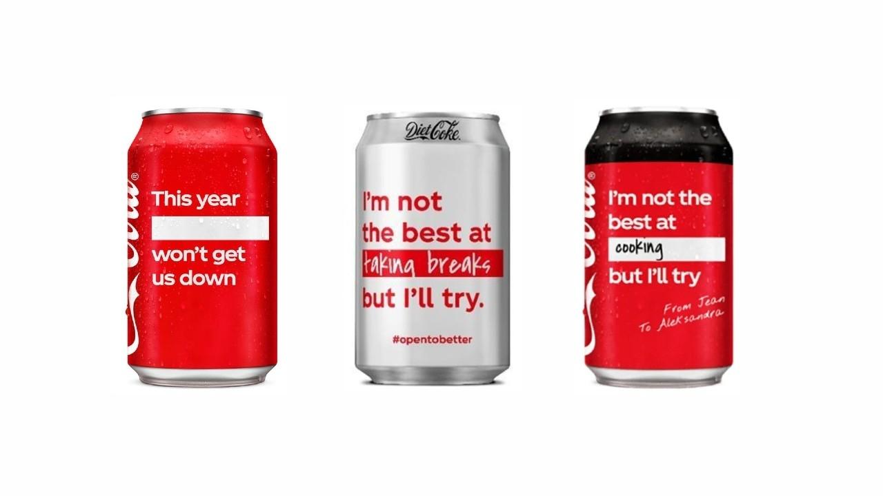 在可口可樂瓶寫上新年新希望,英國版新包裝為新春注入滿滿正能量