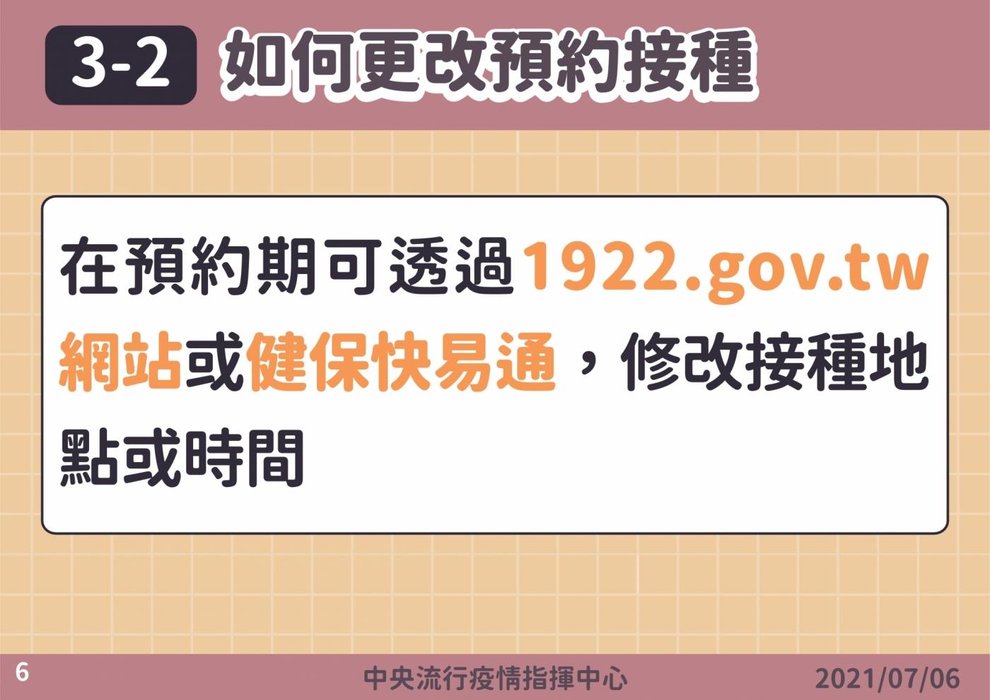 疫苗施打意願登記與預約系統6