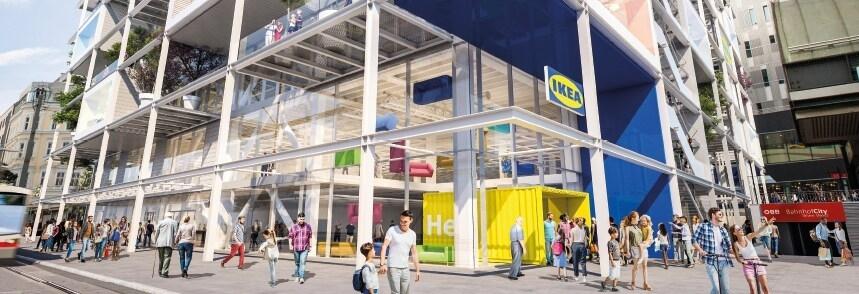 IKEA 在奧地利維也納的 Westbahnhof 車站建設新店