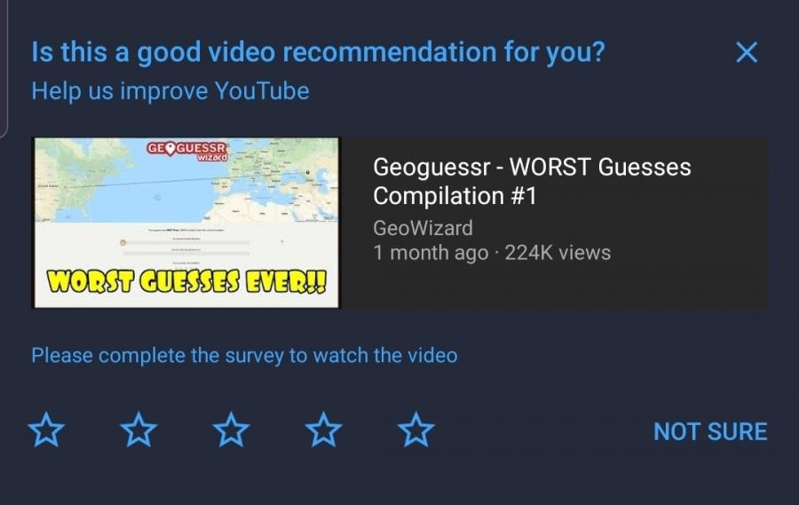 YouTube 問卷調查