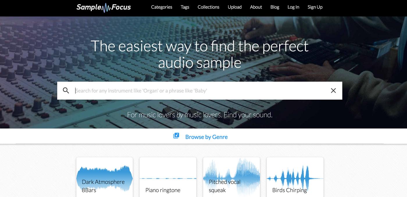 免費音效素材下載網站 Sample Focus 輕鬆搜尋最棒的聲音|數位時代